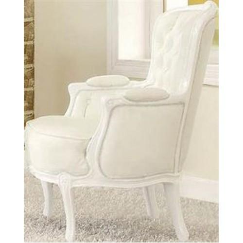 Avani PU Chairs Chrome & White