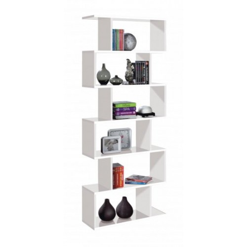 Arctic Bookcase Tall High Gloss White