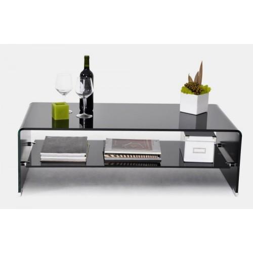 Angola Black Coffee Table with Shelf