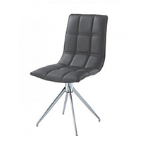 Brody Dining Chair Chrome & Black (2s)