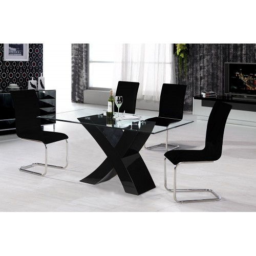 Arizona High Gloss Dining Table Black