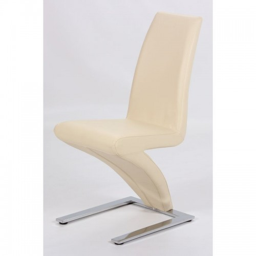 Ankara Dining Chair Chrome & Cream