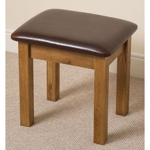 Acorn Solid Oak Dressing Table Stool