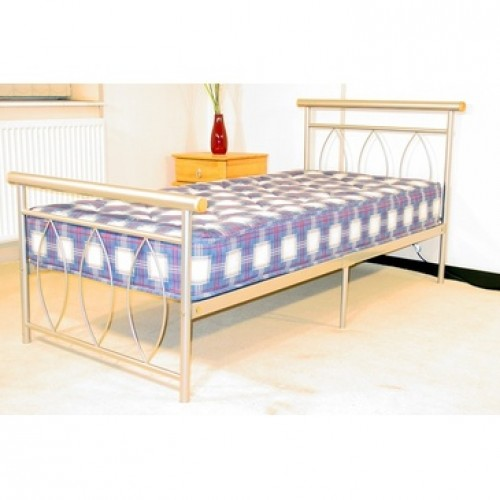Alice Single Bed Silver