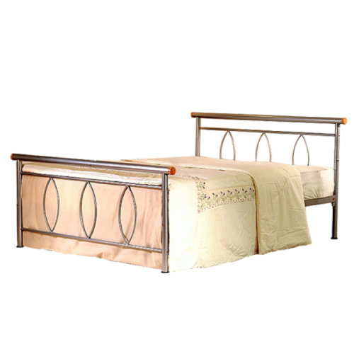 Alice Double Bed Silver