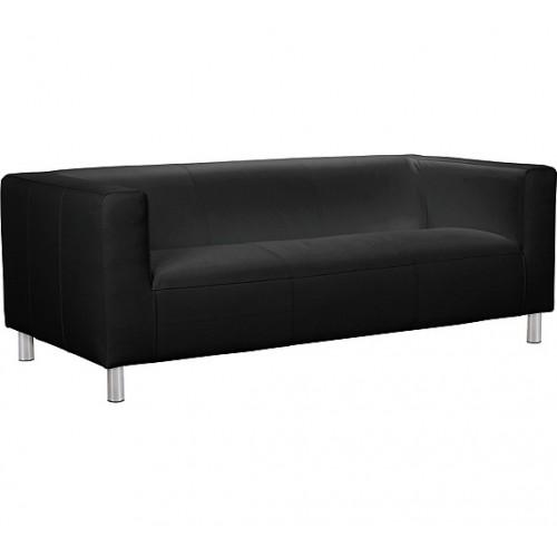 Amani 1 Seater Sofa Leather & PVC Black