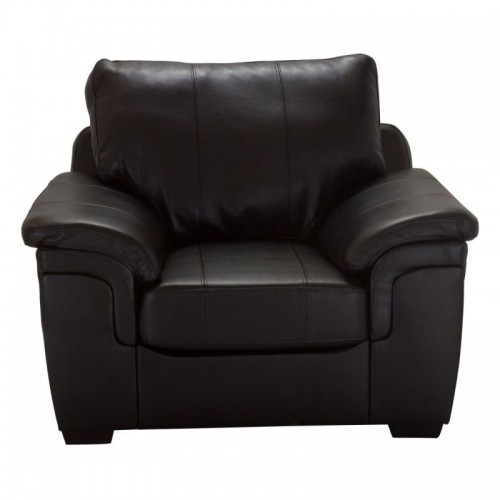 Amy Sofa Bonded Leather 1 Seater Chocolate
