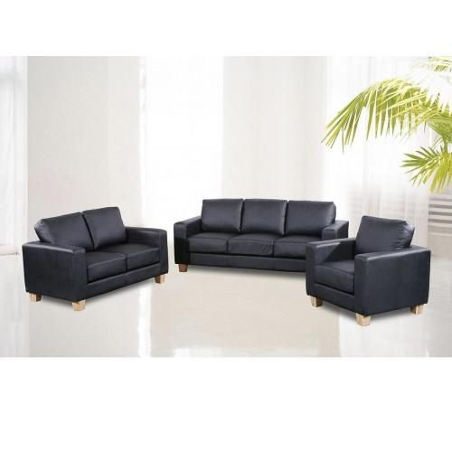 Ancona Sofa Suite  PU 1 Seater Cream