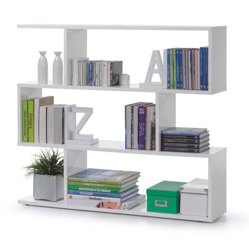 Arctic Bookcase Wide High Gloss White