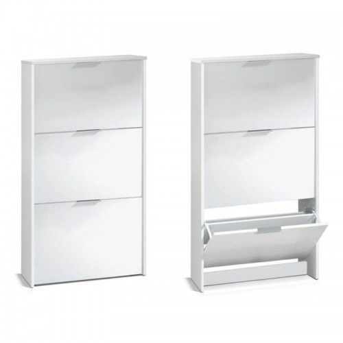 Arctic Shoe Cabinet 3 Doors High Gloss White