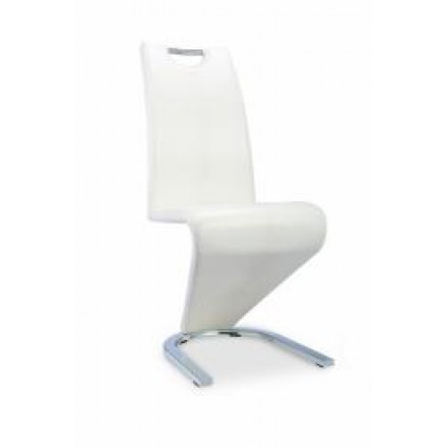 Ankara Dining Chair Chrome & White