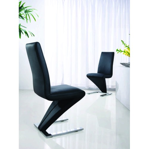 Ankara Dining Chair Chrome & Black