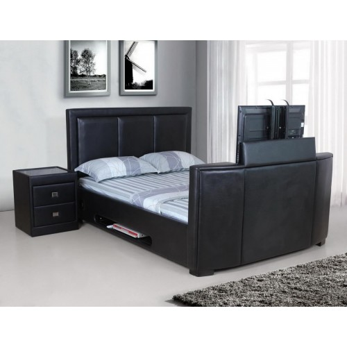 Balmain TV 6 Foot Bed PU Black