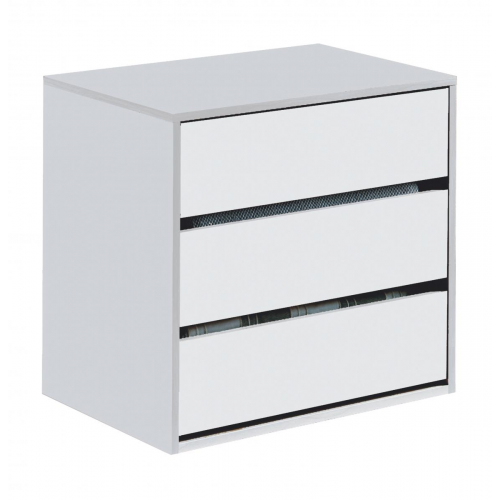 Arctic Drawer Unit 3 Drawer High Gloss White