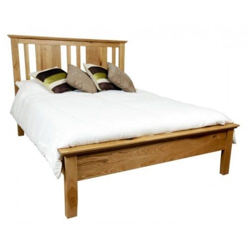 Hereford Rustic Oak Bed - Double