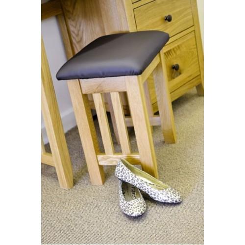 Hereford Rustic Oak Dressing Table Stool