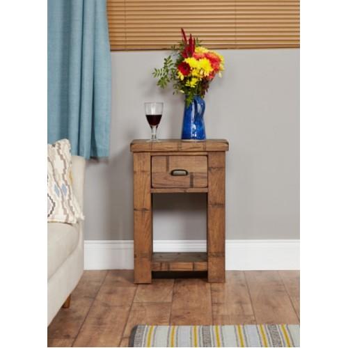 Heyford Rough Sawn Oak Lamp Table