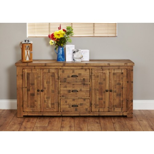 Heyford Rough Sawn Oak Large Sideboard