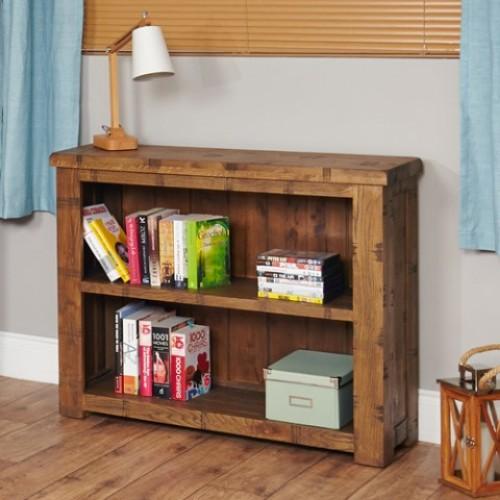 Heyford Rough Sawn Oak Low Bookcase