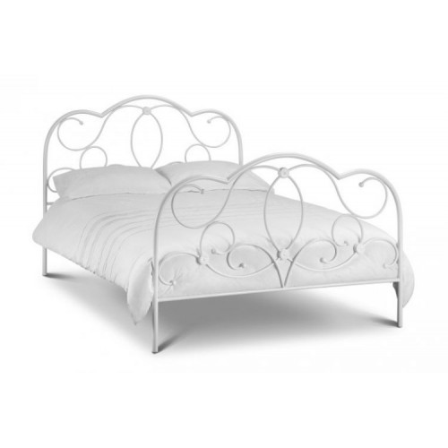 Arabella Bed Stone White Finish 90cm Metal Bed