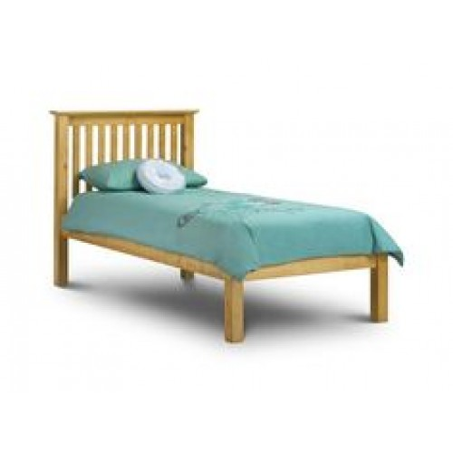 Barcelona Bed High Foot End Pine 90cm Antique Finish