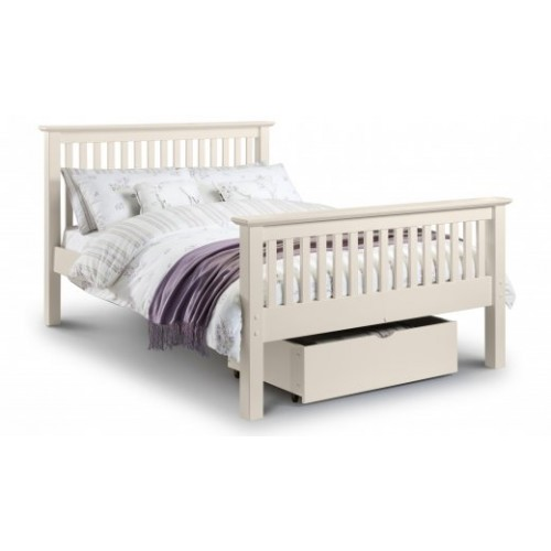 Barcelona Bed High Foot End Stone White 135cm