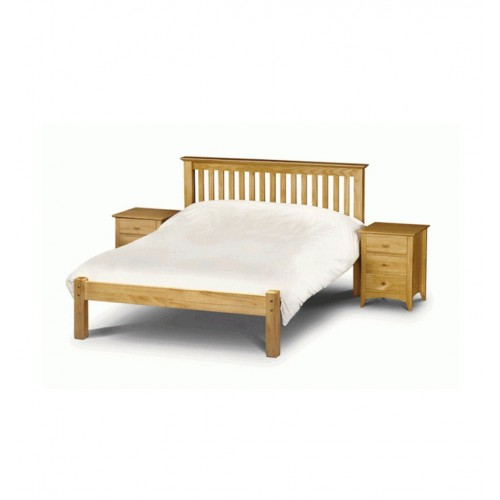Barcelona Bed Low Foot End Pine 150cm Antique Finish