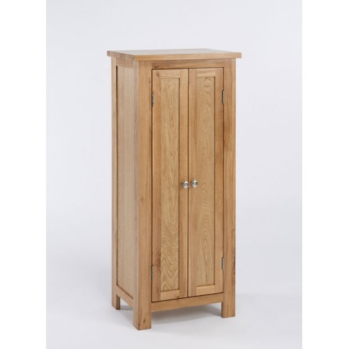Lansdown Oak Tall Storage Cupboard / Hall Cabinet