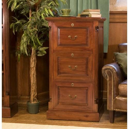 La Roque Three Drawer Filing Cabinet