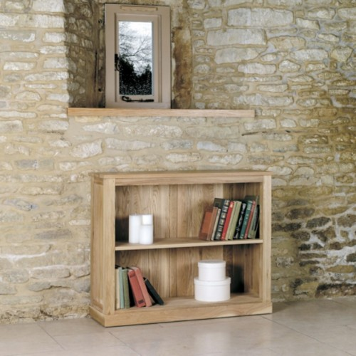 Mobel Oak Low Bookcase