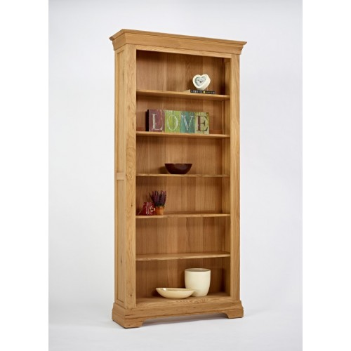 Normandy Oak 6ft Large Bookcase