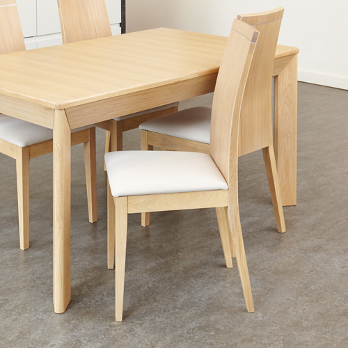 Olten Uno - Stone Dining Chair in Light Oak Finish (Pack Of Two)