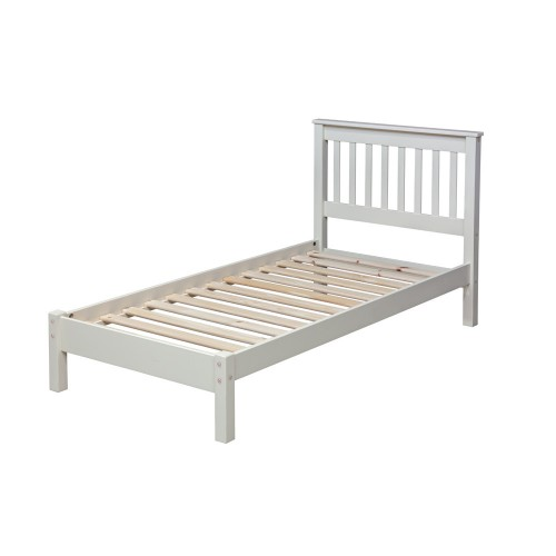 "3'0"" Slatted Lowend Bedstead Jamestown Oak Cream Painted"