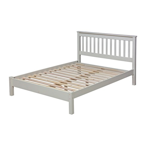 "4'6"" Slatted Lowend Bedstead Quebec Cream Painted"