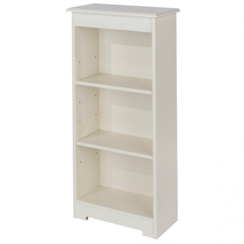 Low Narrow Bookcase Banff Warm White Painted