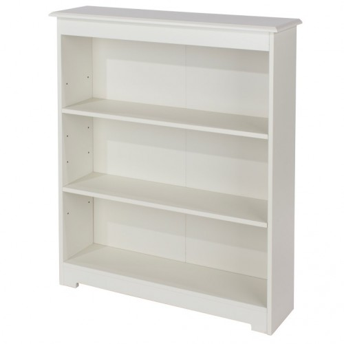 Low Wide Bookcase Banff Warm White Painted