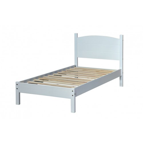 """3'0"""" Panel Lowend Bedstead   Colorado Warm White Painted"""