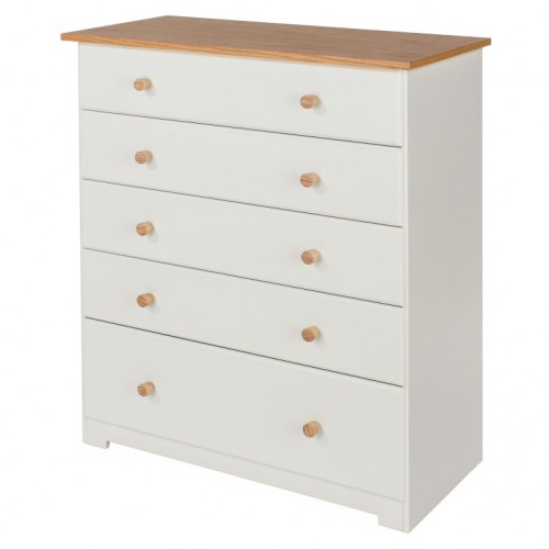 5 Drawer Chest Colorado Warm White Painted