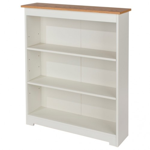 Low Wide Bookcase  Colorado Warm White Painted