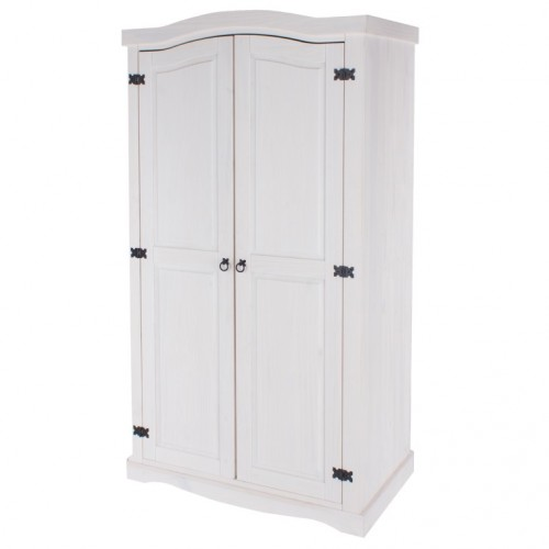 2 Door Wardrobe Corona White Washed
