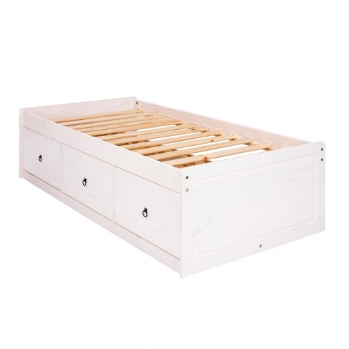 Cabin Bed  Corona White Washed