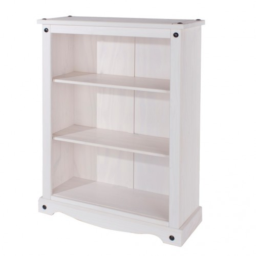 Low Bookcase Corona White Washed