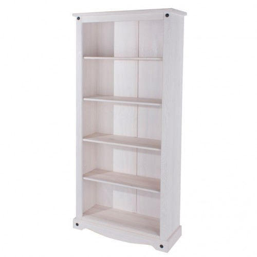 Tall Bookcase Corona White Washed