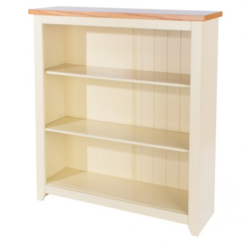 Low Bookcase Jamestown Oak Cream Painted