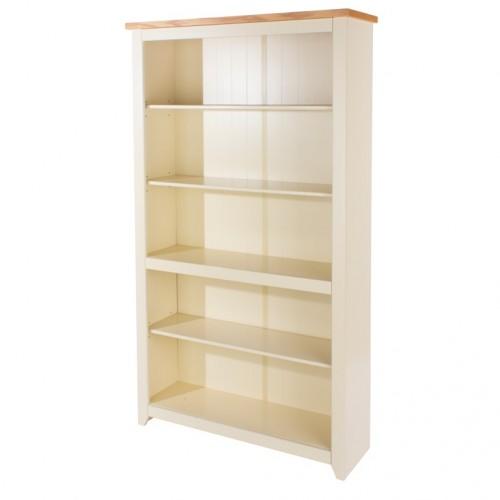 Tall Bookcase Jamestown Oak Cream Painted