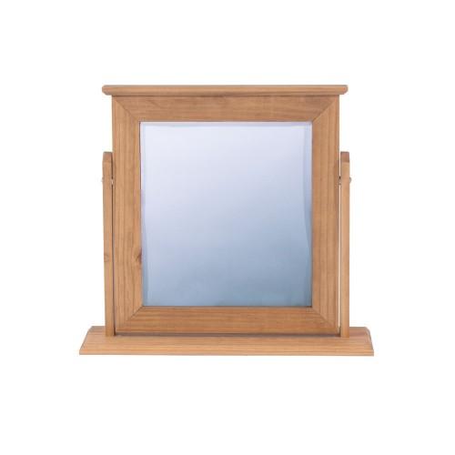 Single Mirror Capri Waxed Pine & White