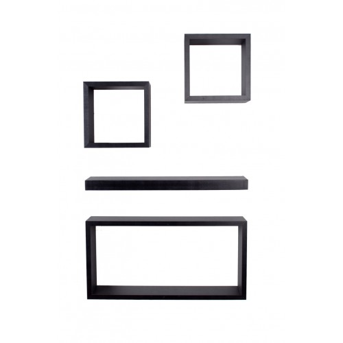 4 pcs hudson set matt black Shelf kit sets matt finish