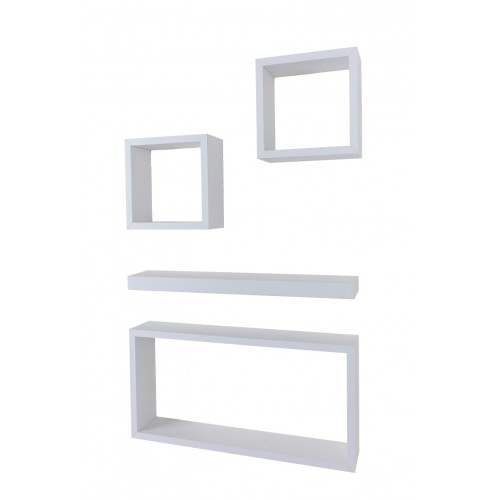 4 pcs hudson set matt white Shelf kit sets matt finish