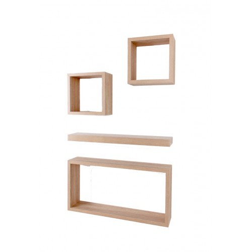 4 pcs hudson set oak Shelf kit sets matt finish