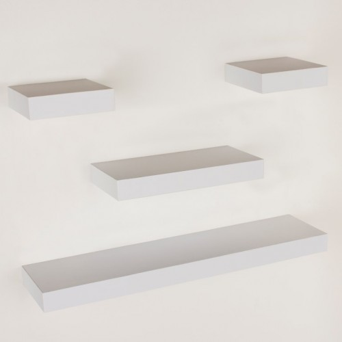 4 pcs narrow hudson shelf pack matt White Shelf kit sets matt finish